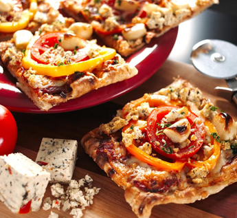 Pizza With Tomato Toppings